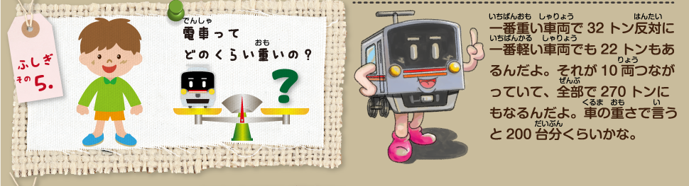 電車ってどのくらい重いの?